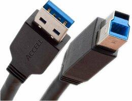Ewent EW9623 1.8m USB A USB B Zwart USB-kabel
