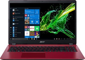 Acer Aspire 3 15.6 F-HD / i3-10110u / 4GB / 512GB SSD / Red / W10