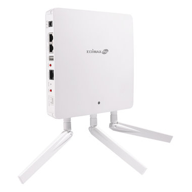 Edimax 3 x 3 AC Dual-Band Wall-Mount PoE Access Point 450 + 1300Mbps